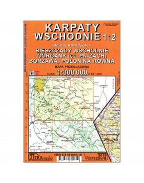 Mapa Karpaty wschodnie...