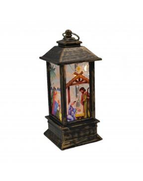 Lampion adwentowy mini ciemny