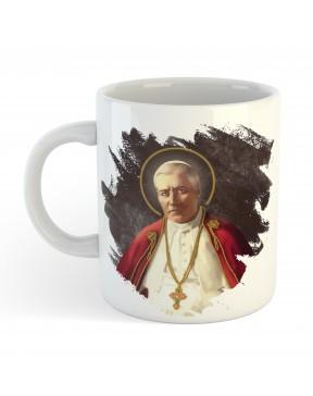 Kubek Pius X biały