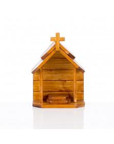 Kapliczka drewniana ciemna...